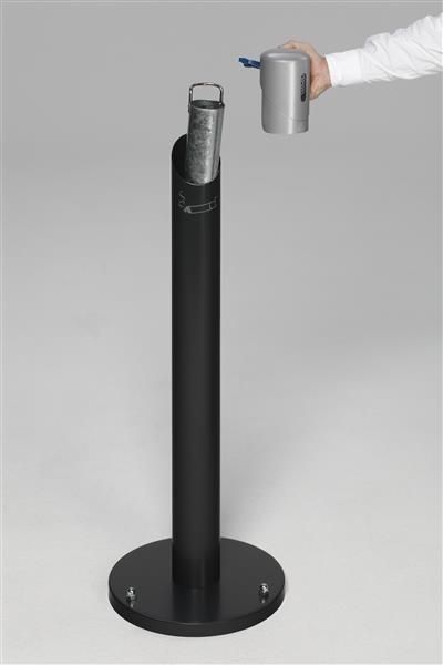 Ascher-Standsäule SG 105 R, Korpus anthrazit - Kopfteil silber