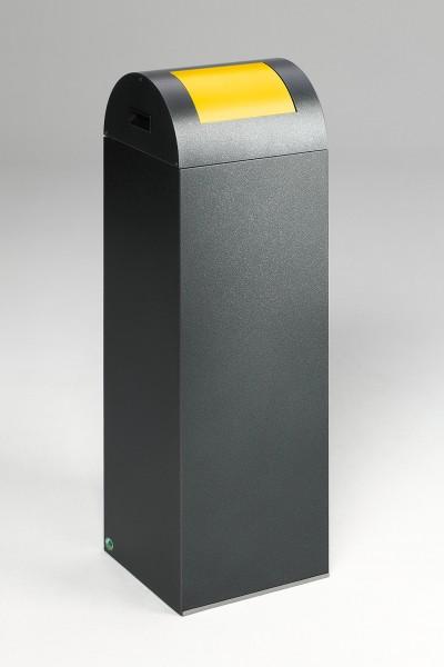 Wertstoffsammelgerät WSG 85 R Korpus antik-silber, Einwurfklappe gelb