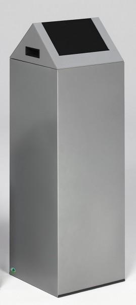 Wertstoffsammelgerät WSG 85 S Korpus silber, Einwurfklappe anthrazit