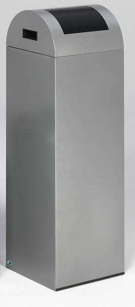 Wertstoffsammelgerät WSG 85 R Korpus silber, Einwurfklappe anthrazit