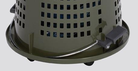 Kunststoffabfallsammler Zeffiro Fußpedalbetätigung