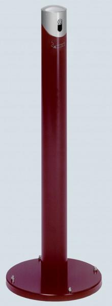 Ascher-Standsäule SG 105 R, Korpus rot - Kopfteil silber