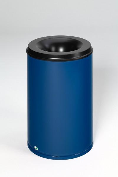 Papierkorb feuersicher, 110 L, Löschkopf schwarz