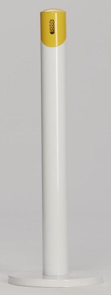 Ascher-Standsäule SG 105 R, Korpus weiß - Kopfteil gelb