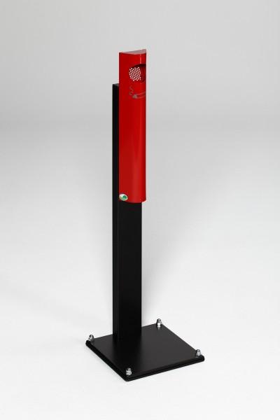 Wandascher B 12, mit Standfuß schwarz