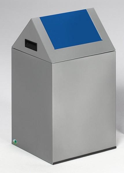 Wertstoffsammelgerät WSG 40 S Korpus silber, Einwurfklappe enzianblau