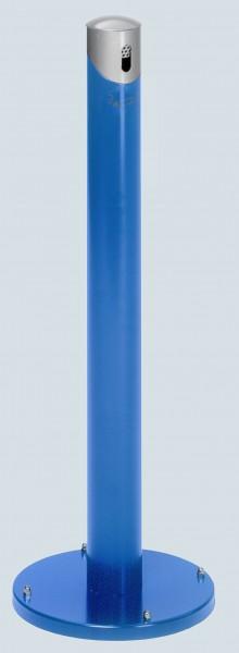 Ascher-Standsäule SG 105 R, Korpus enzianblau - Kopfteil silber