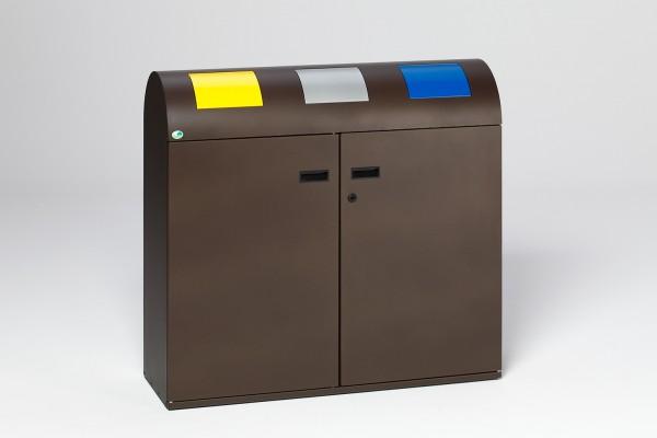 Wertstoffsammelstation WS 100R, deep-brown