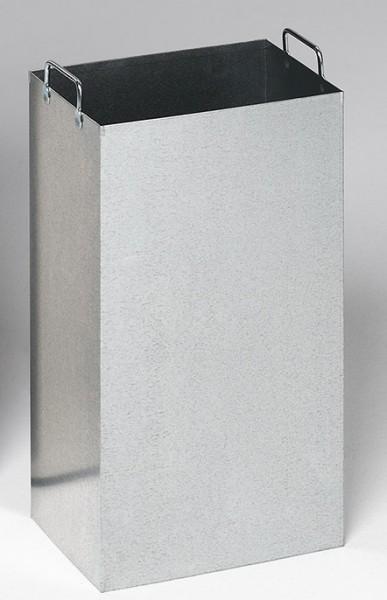 Inneneinsatz aus verzinktem Stahlblech, für Ascher/Abfallsammler 32 Liter