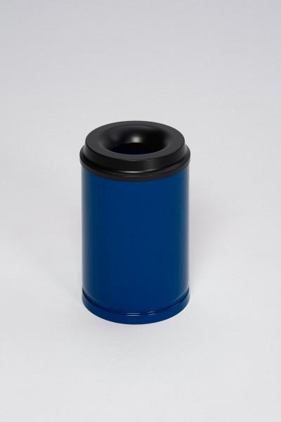 Papierkorb feuersicher, 15 L, Löschkopf schwarz