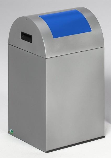 Wertstoffsammelgerät WSG 40 R Korpus silber, Einwurfklappe enzianblau