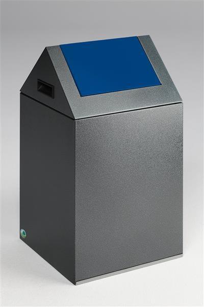 Wertstoffsammelgerät WSG 40 S Korpus antik-silber, Einwurfklappe enzianblau