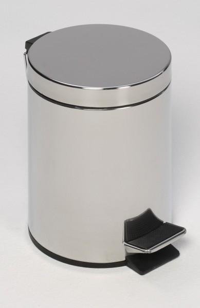 Tret-Abfallsammler mit Fußpedal, 20 L, Edelstahl poliert