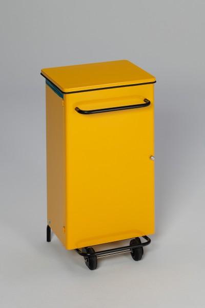 Hygiene-Pedal-Abfallsammler, fahrbar, 90 L