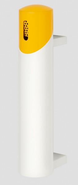 Wandascher SG 65, weiß - Kopfteil gelb