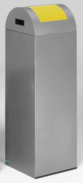 Wertstoffsammelgerät WSG 85 R Korpus silber, Einwurfklappe gelb