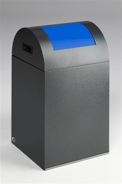Wertstoffsammelgerät WSG 40 R Korpus antik-silber, Einwurfklappe enzianblau
