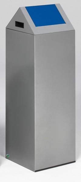 Wertstoffsammelgerät WSG 85 S Korpus silber, Einwurfklappe enzianblau