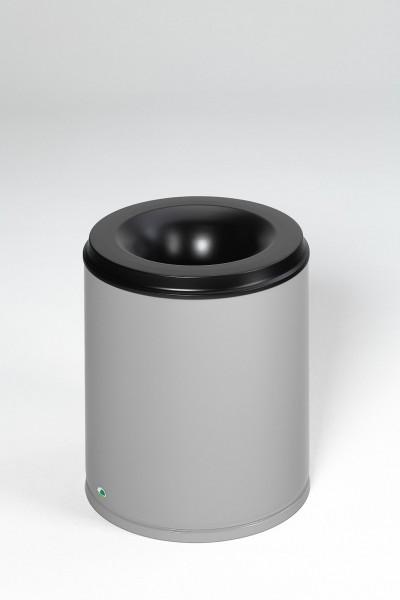 Papierkorb feuersicher, 80 L, Löschkopf schwarz