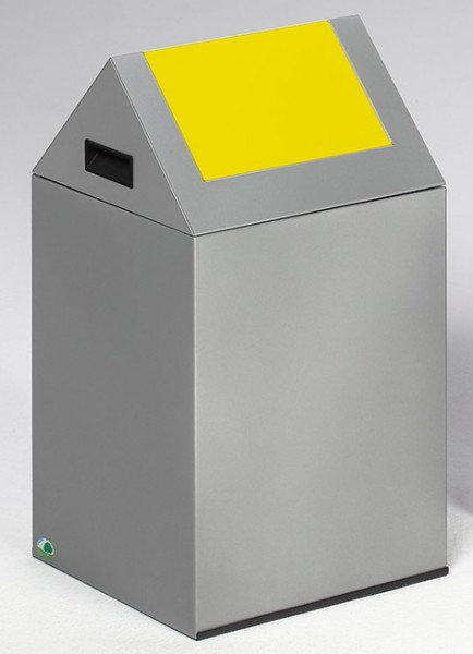 Wertstoffsammelgerät WSG 40 S Korpus silber, Einwurfklappe gelb