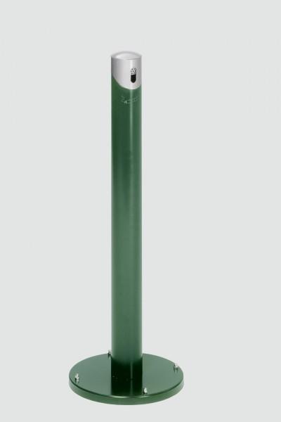 Ascher-Standsäule SG 105 R, Korpus moosgrün - Kopfteil silber