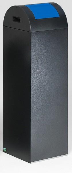 Wertstoffsammelgerät WSG 85 R Korpus antik-silber, Einwurfklappe enzianblau