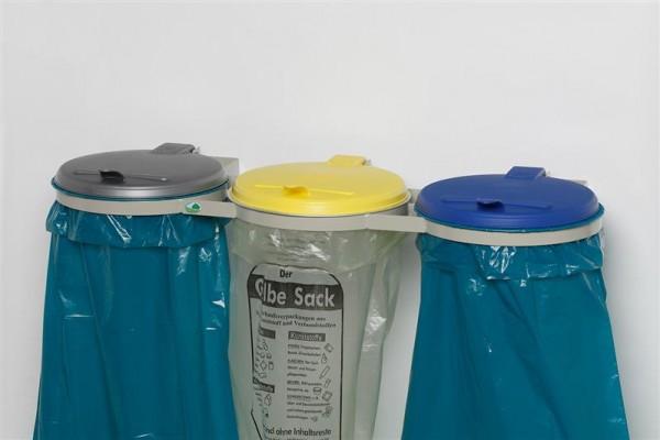 WS 3-fach, konsol (Wandgerät), KS-Deckel gelb, blau, silber