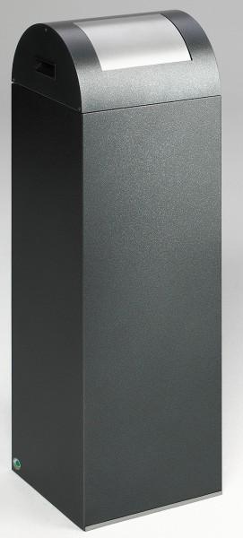 Wertstoffsammelgerät WSG 85 R Korpus antik-silber, Einwurfklappe silber