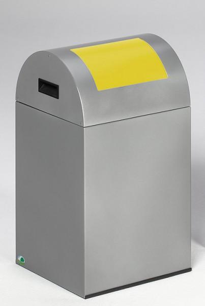 Wertstoffsammelgerät WSG 40 R Korpus silber, Einwurfklappe gelb
