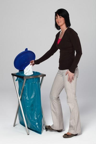 Scherenständer mit Fußpedal, Deckel blau