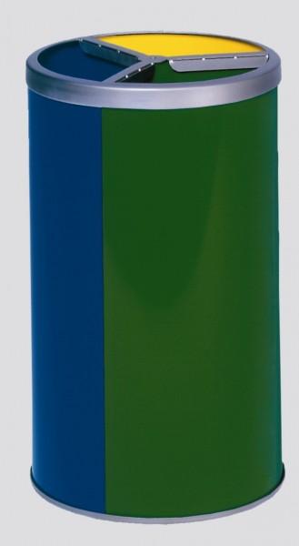 Wertstoffstation 3-fach,ohne Dach, gelb, blau, grün