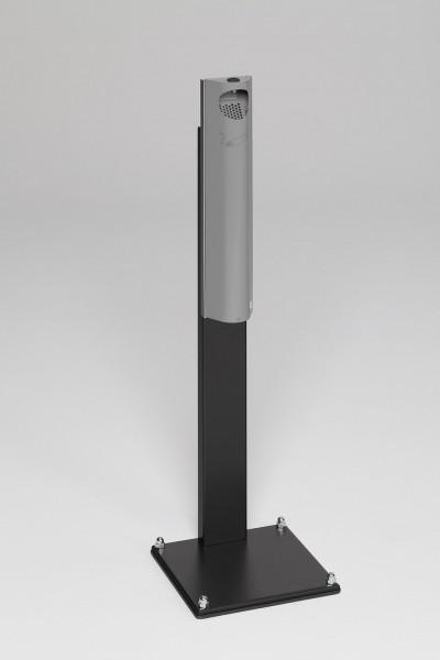 Wandascher B 12 verschließbar mit Standfuss schwarz