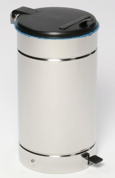 Euro-Pedal, Edelstahl poliert, Kunststoffdeckel schwarz