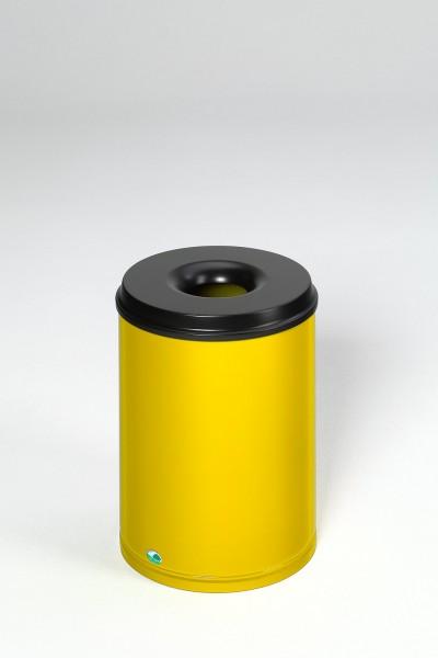 Papierkorb feuersicher, 50 L, Löschkopf schwarz
