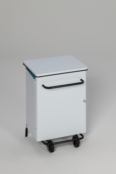 Hygiene-Pedal-Abfallsammler, fahrbar, 70 L