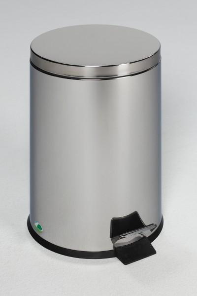Tret-Abfallsammler mit Fußpedal, 12 L, Edelstahl poliert