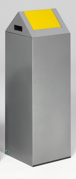 Wertstoffsammelgerät WSG 85 S Korpus silber, Einwurfklappe gelb