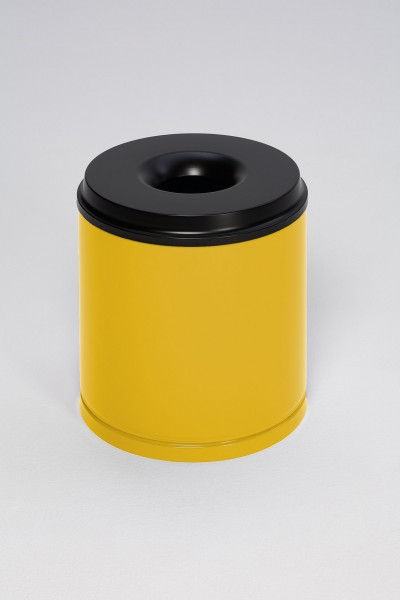 Papierkorb feuersicher, 30 L, Löschkopf schwarz