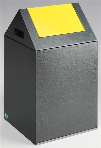Wertstoffsammelgerät WSG 40 S Korpus antik-silber, Einwurfklappe gelb