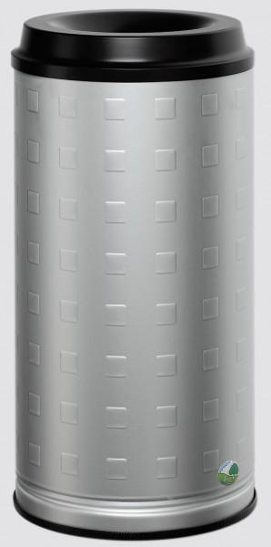 Papierkorb 20-l Inhalt, Alu, eloxiert