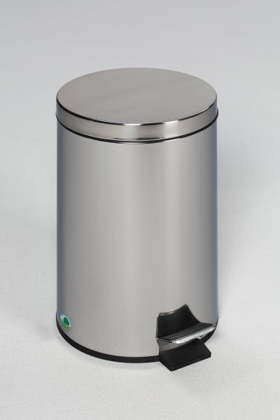 Tret-Abfallsammler mit Fußpedal, 5 L, Edelstahl poliert
