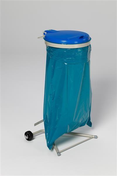 WS 120, fahrbar (2 Rollen), KS-Deckel, blau