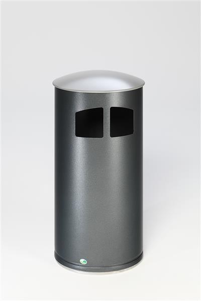 Abfallsammler D 44 mit Deckel silber, inkl. Inneneinsatz